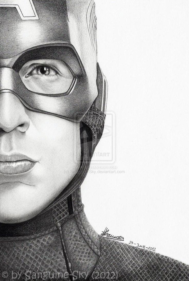 The Avengers Half Series - Captain America By ~Sanguine-Sky On DeviantART | Avengers | Pinterest ...