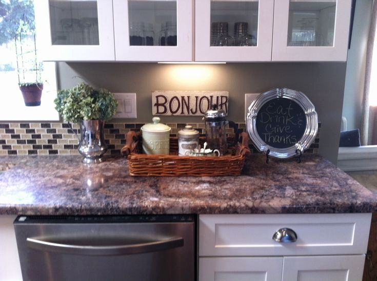 Bathroom Counter Decorating Ideas Awesome Kitchen Counter Decor A Pretty Home Is A Happy Home Pinterest Kitchen Counter Decor Counter Decor Countertop Decor