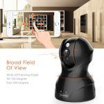 Wireless Security Camera,KAMTRON HD WiFi Security Surveillance IP Camera Home Monitor with Motion Detection Two-Way Audio Night Vision,Black