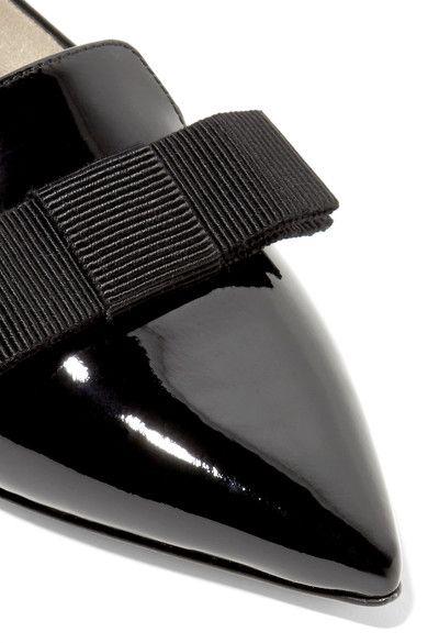 Jimmy Choo - Gala Patent-leather Point-toe Flats - Black - IT