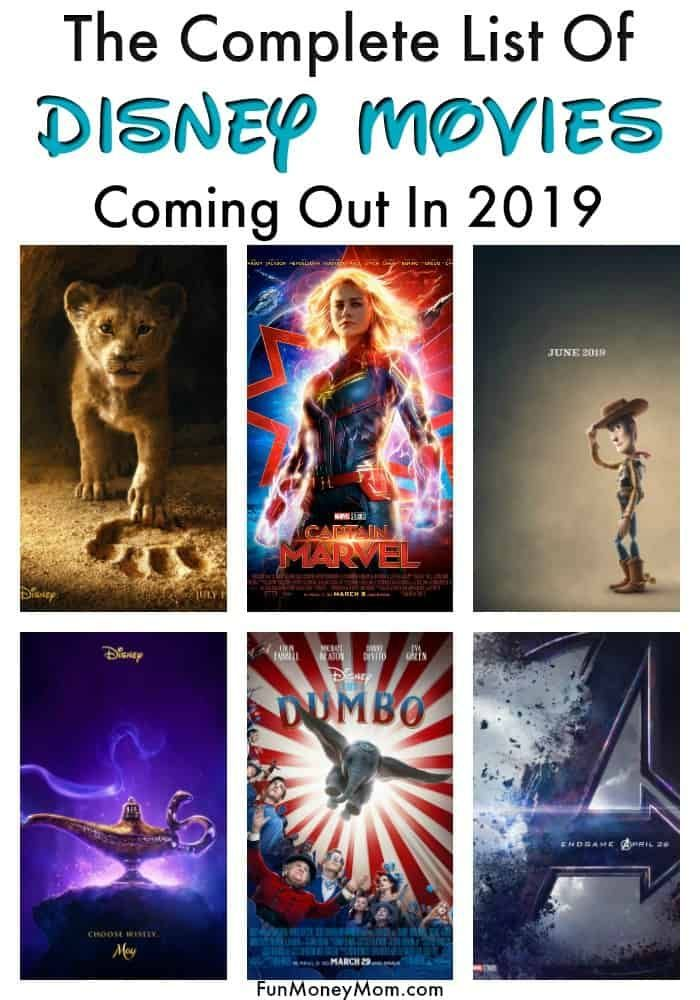 Disney Movies Coming Out In 2019 Disney Movies List Movies Coming Out Disney Movies
