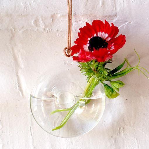 Glass Hanging Vase Doughnut designed in Australia by Love Hate AUD $23