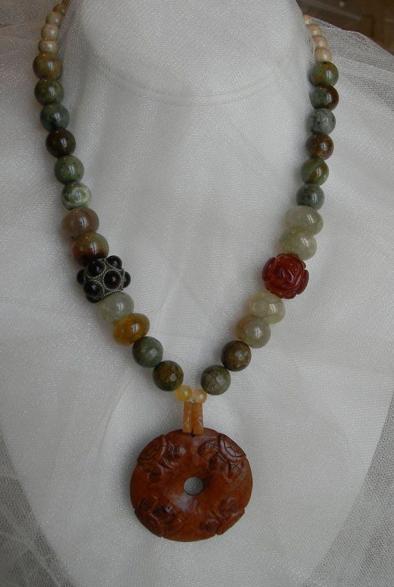 Netsuke turtles donut pendant w opal and carved by CloudPineStudio