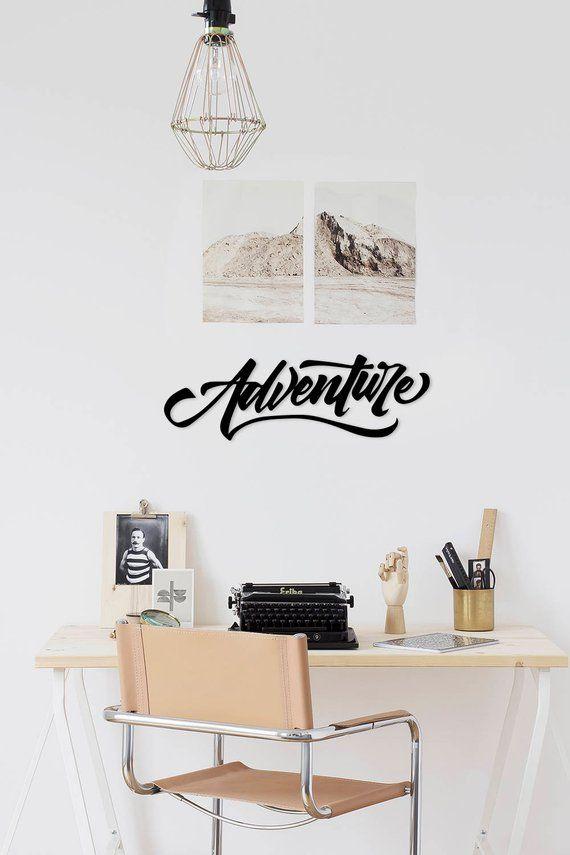 Adventure Metal Words Wallart Homedecor Hanging Sign