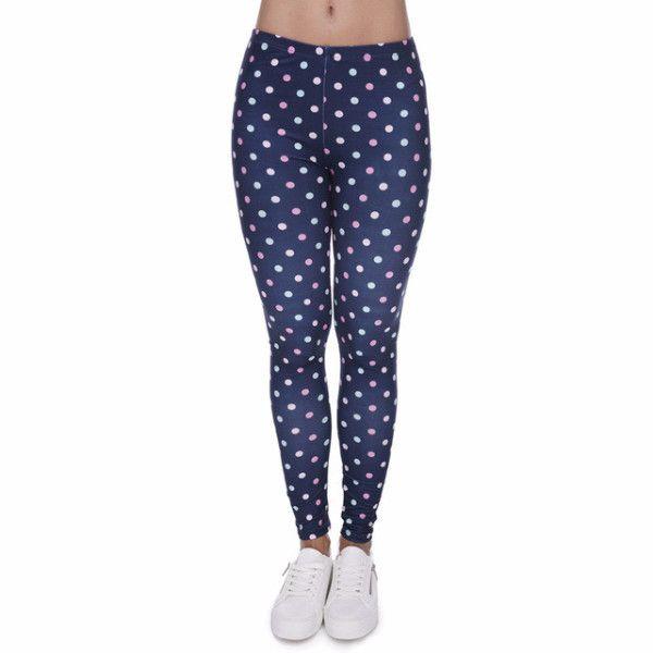 Blue Polka Dot Leggings