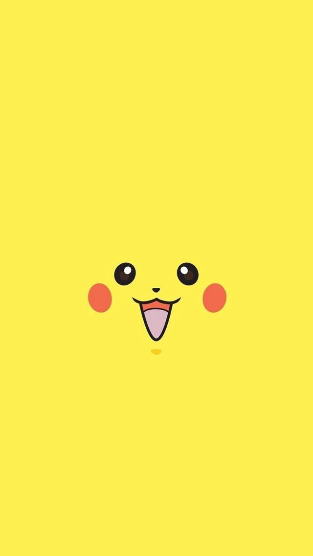 Pikachu Pokemon Minimal Flat iPhone 5s wallpaper