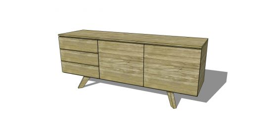 Free DIY Furniture Plans to Build an Mid Century Modern Credenza | The Design Confidential