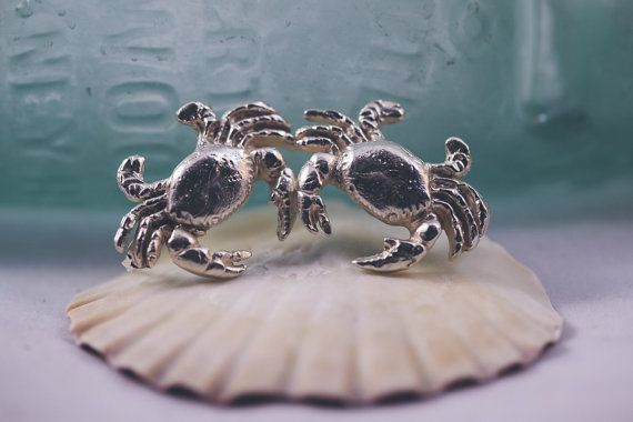 The Silver Crab Earrings are begging to be snapped up! Inspired by childhood visits to Cornwall by @Chalk Designs