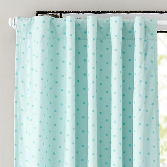 Polka Dot Blackout Curtains (Aqua) | The Land Of Nod