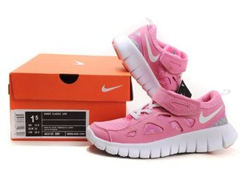 Nike Free Run 2 Pink White Kids Running Shoes #Pink #Womens #Sneakers