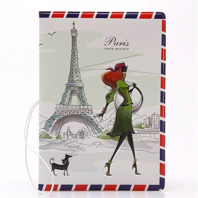 【 $1.62 & Free Shipping 】Fashion Miss love travel Passport Cover ID Credit Card Bag 3D Design PVC Leather Business Holder   worth buying on AliExpress