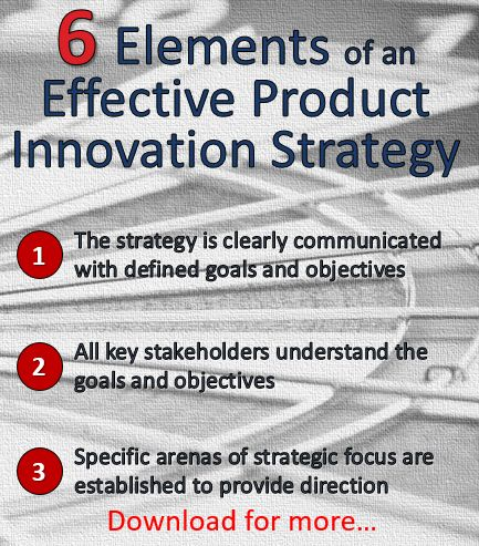 Discover 6 elements of an effective product innovation strategy.  Does your company have all 6 in place? http://bit.ly/Strategy_6_Elements