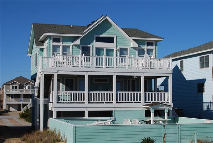 The Jade Wave 331 Nags Head Nc Outer Banks Vacation Rental Home L Oceanfront Home With 6