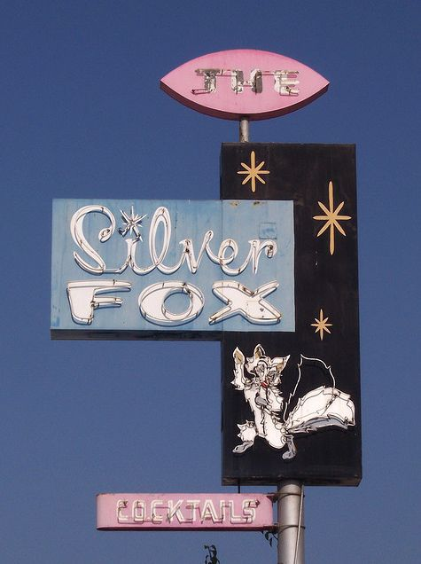 Silver Fox ~ Space Age Neon Sign