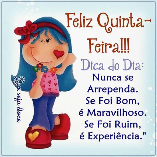 Papo de Mulher: Bom Dia Quinta Feira!!