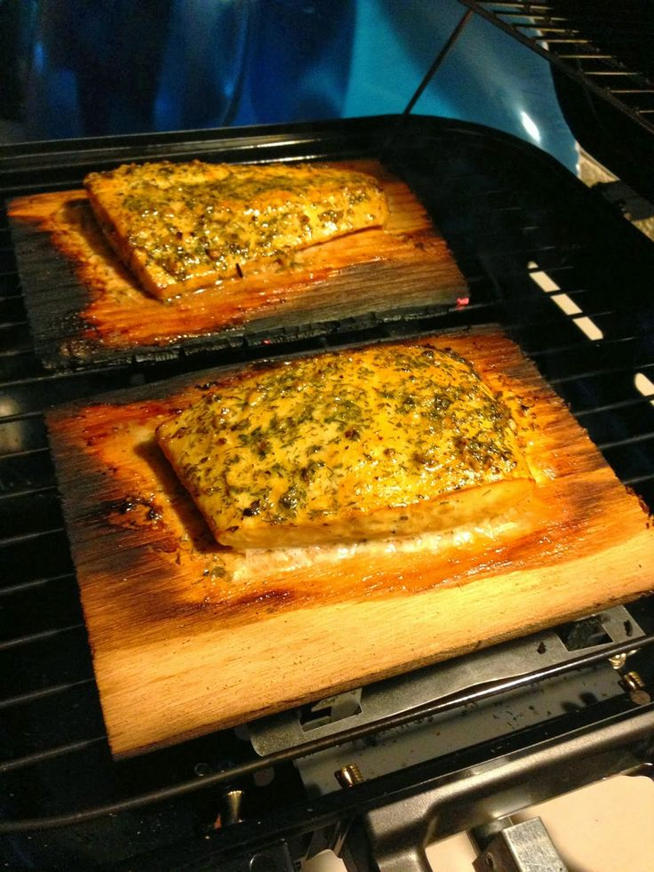 BabyBakes: Cedar Plank Halibut with Herb Butter