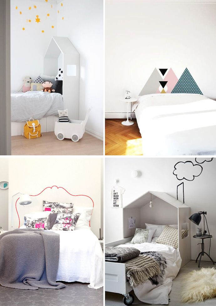 Take inspiration from these ingenious headboard ideas for kids' rooms.