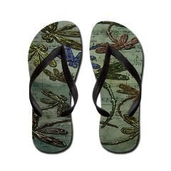 Dragonfly song designed thongs.  #dragonfly #thongs #flipflops #jandals