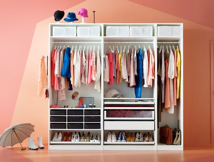 Image result for ikea pax open wardrobe Clothes storage