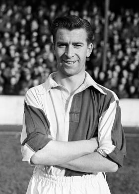 Brian Douglas. Footballer. Born in Blackburn in 1934. He played his whole career at Blackburn Rovers and was capped 36 times for England.