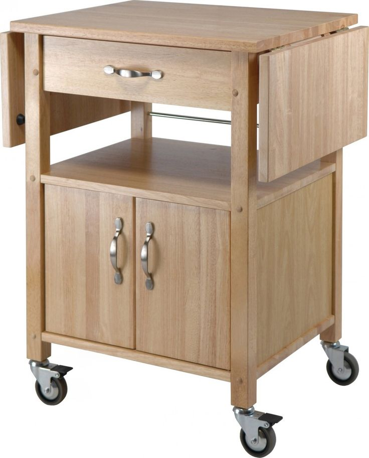 Rolling Kitchen Cart With Drop Leaf Woodworking Projects
