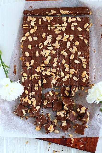 Suklaapossu: Maapähkinävoi-suklaa-karkit