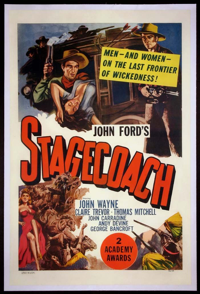 Western Movie Posters   STAGECOACH Movie Poster (R-1948)    WESTERN Movie Posters ...