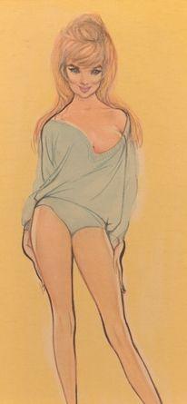 1950'erne i Danmark, tegning af Christel Marrott