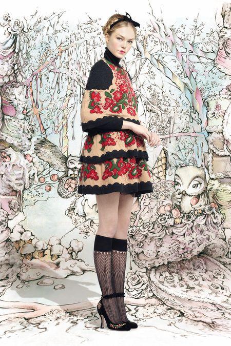 NANCY ♡ GIRL: ♥ RED VALENTINO FALL 2013 ♥ HANSEL & GRETEL GINGERBREAD DRESSES ♥