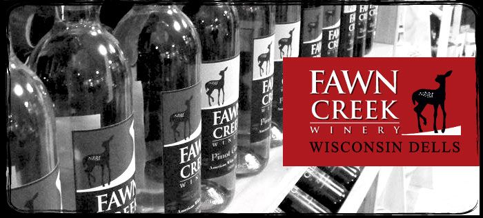 If you're a wine lover and planning a trip to Wisconsin Dells, be sure to put Fawn Creek Winery on your itinerary! Family owned and located amongst the pristine woods just north of The Dells, Fawn Creek offers fine wine as well as the beauty and relaxation of nature.
