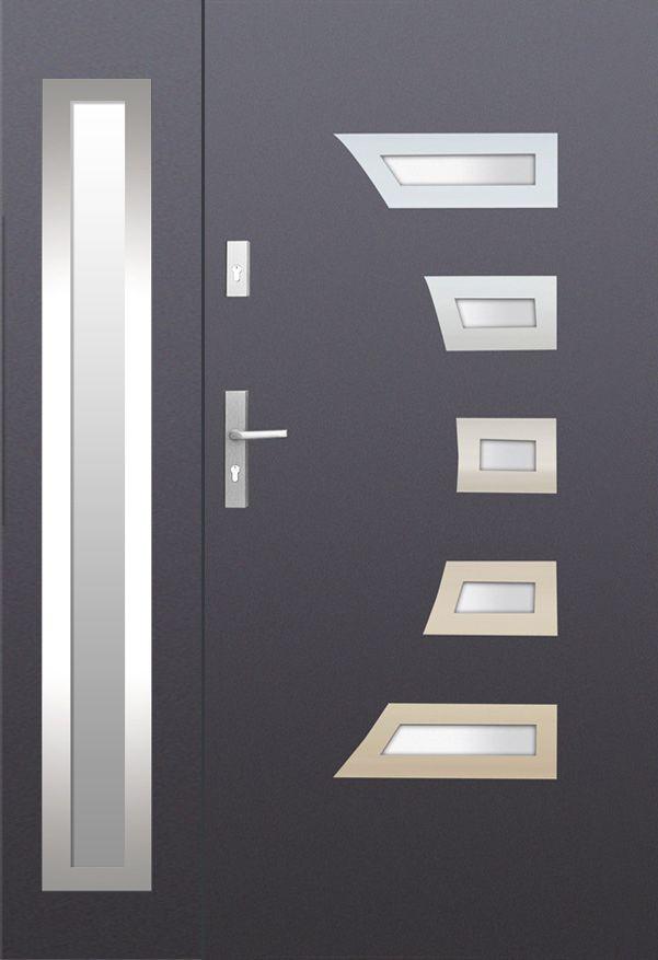 Fargo 23a Db Stainless Steel Double Door Entree Double Mobilier Contemporain Portes