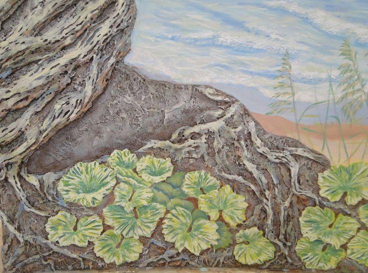 Мастер Класс Создание рельефа листочков из гипсовой шпаклевки и роспись ...