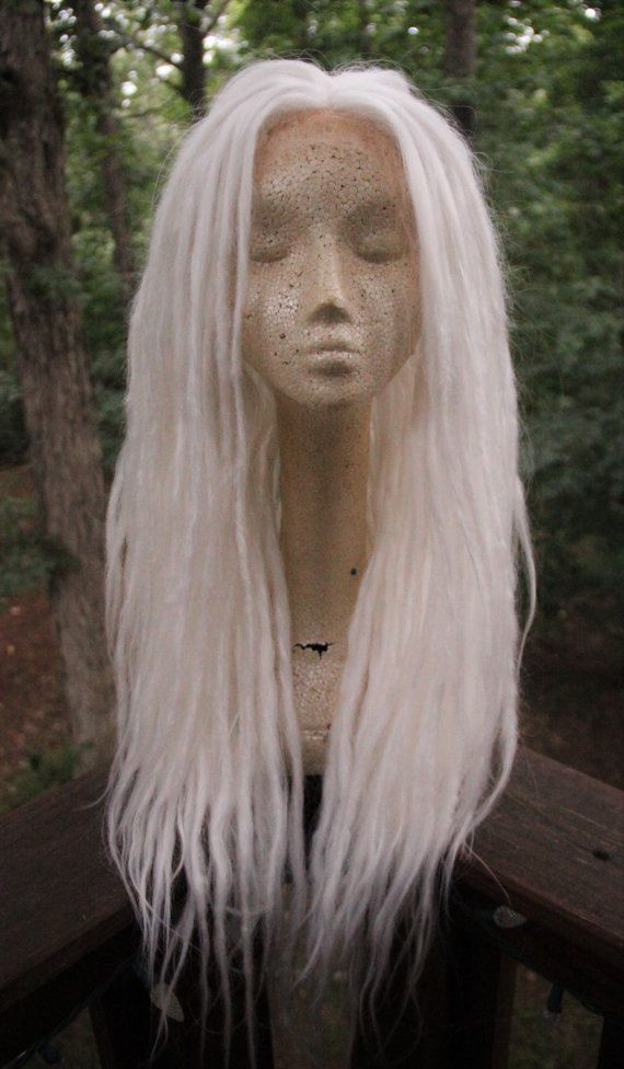Snow White Dreadlock Wig Synthetic Lace Front by SisterSarahsShop