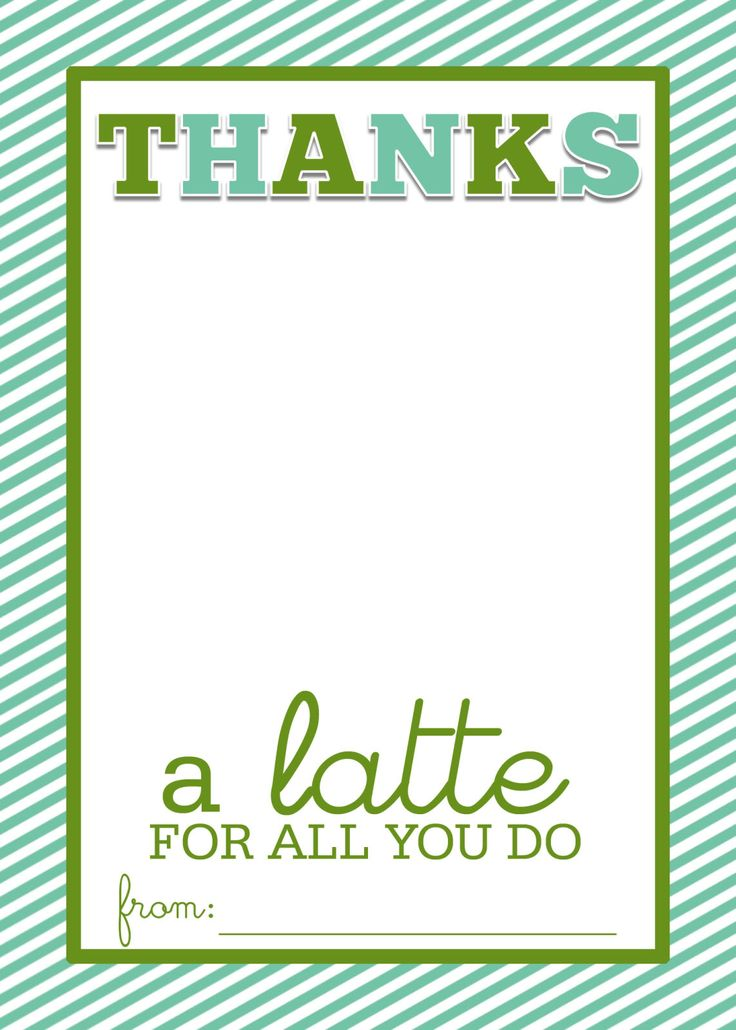Best 25+ Thanks a latte ideas on Pinterest Starbucks gift ideas - christmas gift vouchers templates