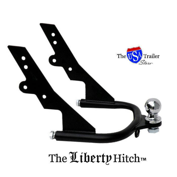 The Liberty Hitch I is the latest offering from The USA Trailer Store. With its simple curves and matte black finish, the Liberty Hitch, the Liberty Hitch is where form and function meet. Cold. Hard. Steel.