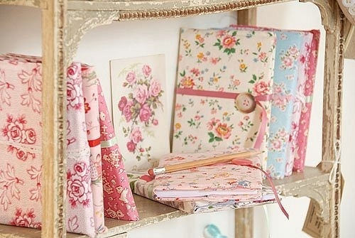 Vintage fabric/shabby chic notebooks