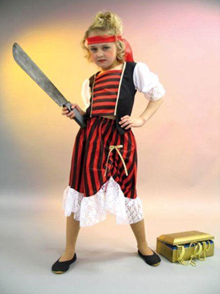 """https://11ter11ter.de/58847794.html Kinderkostüm """"Piratenbraut"""" #Karneval #Fasching #Mottoparty #Pirat #11ter11ter #Outfit #Kostüm #Kinder #Mädchen"""