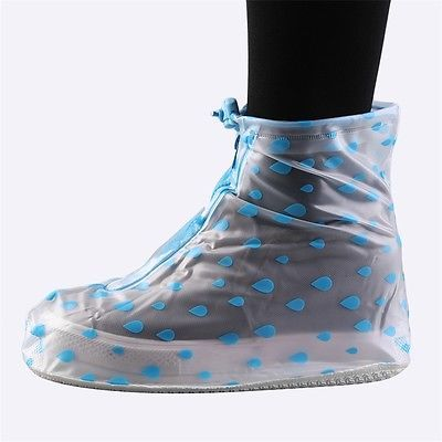 1 Pair Front Zipper Anti-Slip Waterproof Shoe Covers Rain Boots Overshoes M QT - http://sports.goshoppins.com/cycling-equipment/1-pair-front-zipper-anti-slip-waterproof-shoe-covers-rain-boots-overshoes-m-qt/