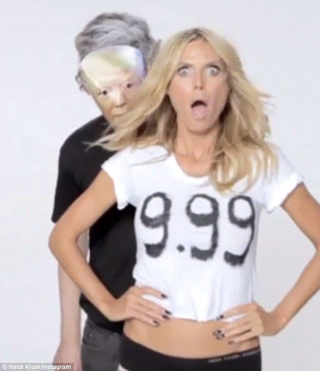 Heidi trumps Trump: Heidi Klum fired back at Donald Trump on Monday with mocking video after he branded her 'no longer a 10'