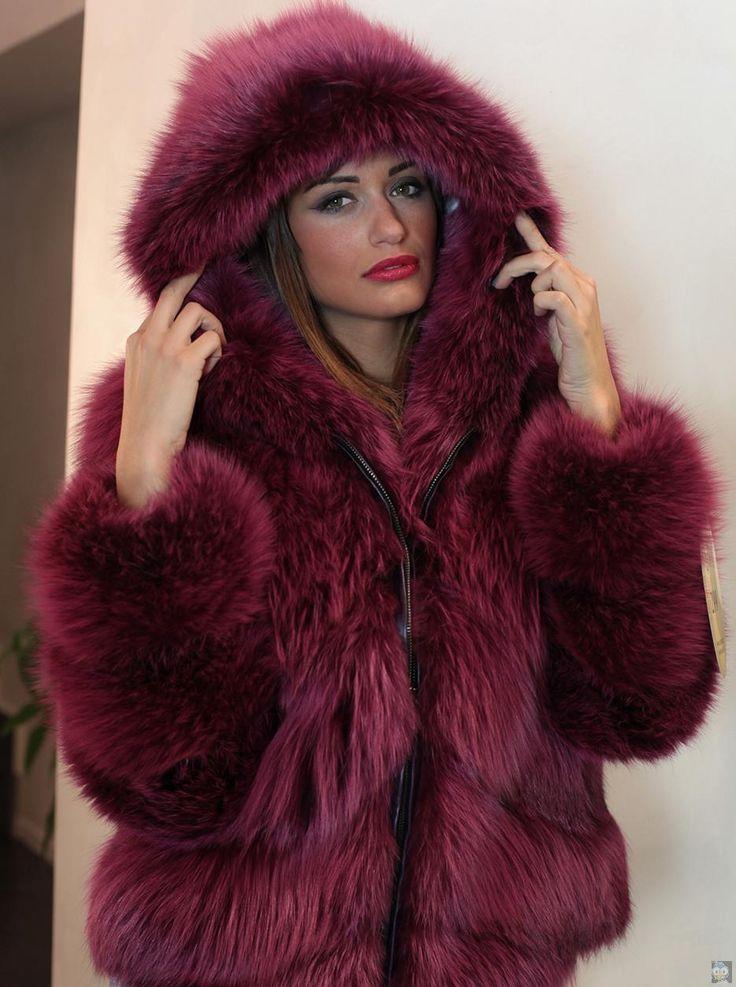 Young17 2016 Women Fashion Faux Fur Coat long sleeve pink purple ...