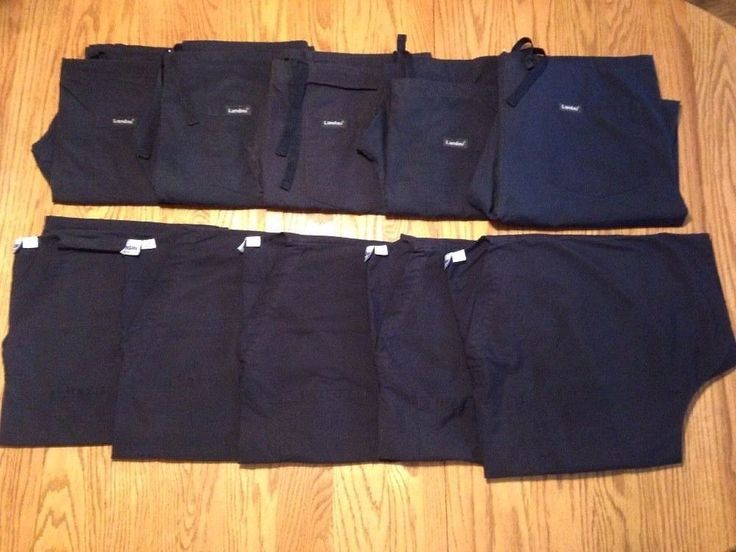 LANDAU Scrub Lot Mens L 5 Sets Top Bottom Shirt Pants Black  #Landau