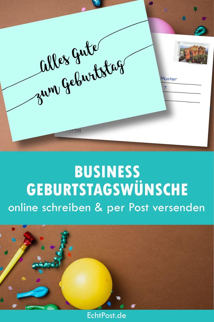 Business Geburtstagswünsche online schreiben & per Post
