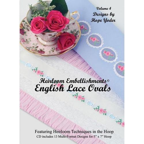 Heirloom Embellishments Volume 4 CD - English Lace Ovals   Martha Pullen