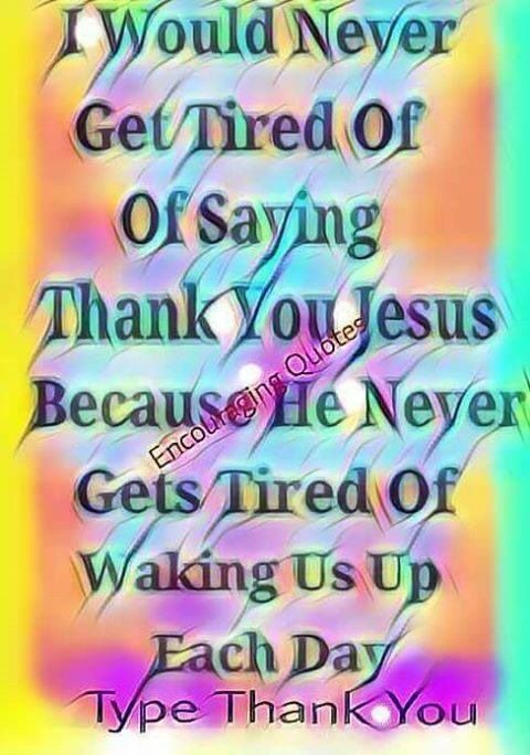 Lord Thank You Jesus!