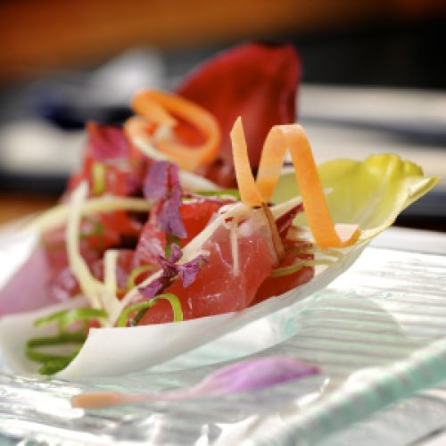 Tataki van tonijn en witloof