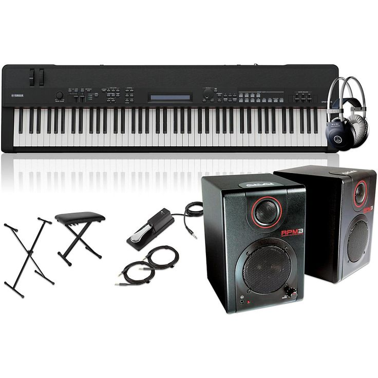 Yamaha CP40 Stage 88-Key Stage Piano with RPM3 Monitors, Stand, Headph