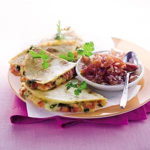 Recept - Quesadilla's met tomatensalsa - Allerhande
