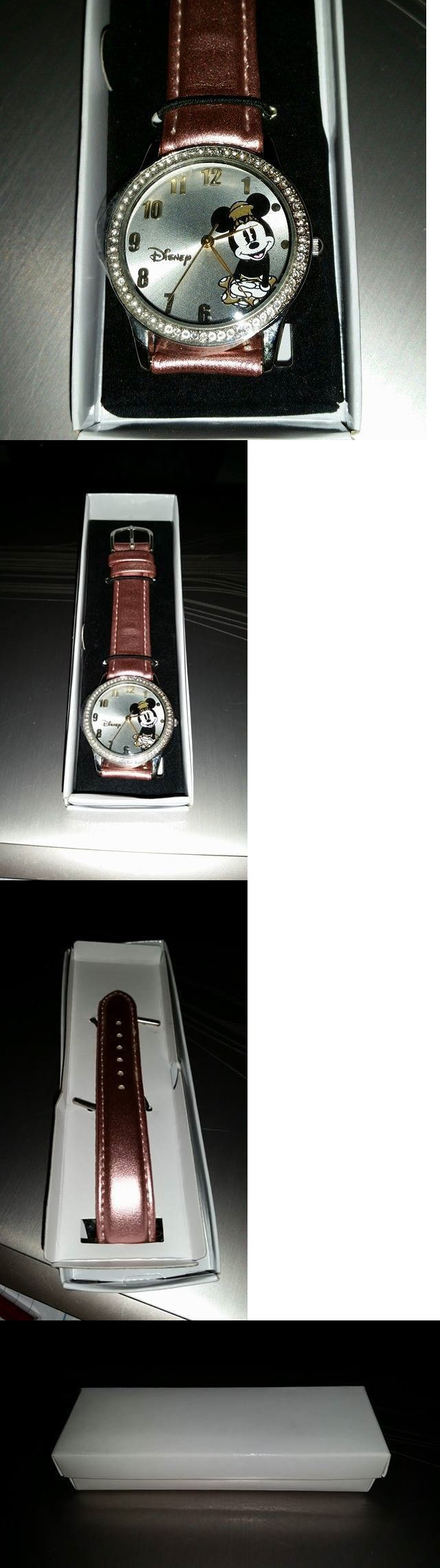 Wristbands 112603: Brand New In Box Disney For Avon Sparkling Minnie Mouse Watch Pink Pearl Strap BUY IT NOW ONLY: $39.95