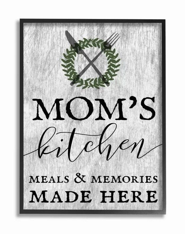 Mom S Kitchen Meals Memories Made Here Sign Quote Wrapped