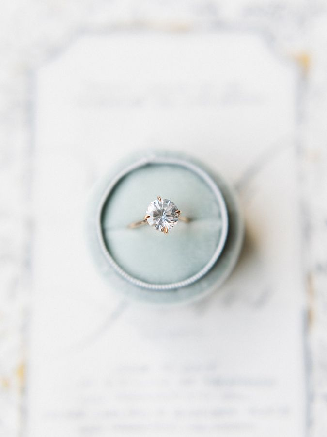 Modern classic engagement ring: http://www.stylemepretty.com/2016/12/27/best-most-beautiful-engagement-ring-2016/ Photography: Tenth and Grace - http://www.tenthandgrace.com/